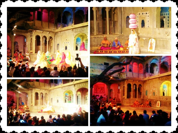 The song-dance cultural program at Bagore-ki-haveli..