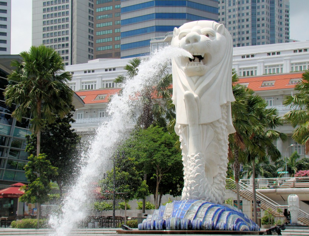 The iconic Merlion
