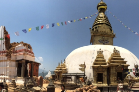 Earthquake Aftermath: Ruins in Swayambhunath Temple Source: Jackson Proskow/Global News
