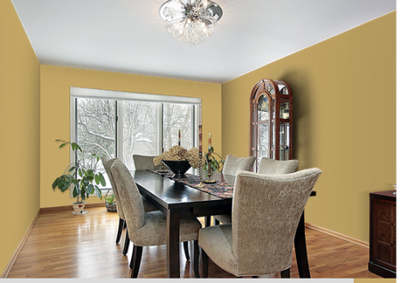 Dining Room Look: Elegant for a fine dining experience everyday at home..