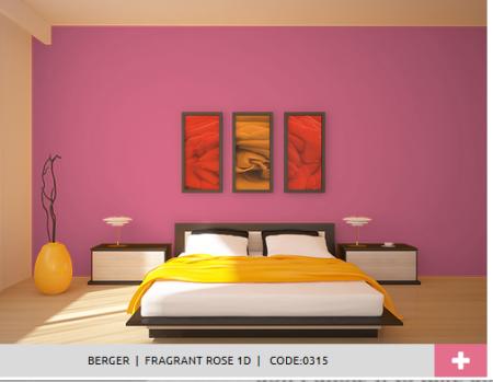 Bed Room Look: Beautiful as rose..