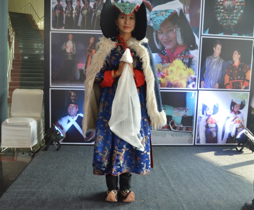 A Ladakhi girl in traditional outfit..