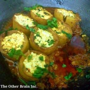 Holi Special – Bharwan Dum Aloo (Stuffed Potatoes in Indian Curry)Recipe